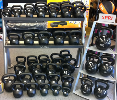 Kettlebell in store display